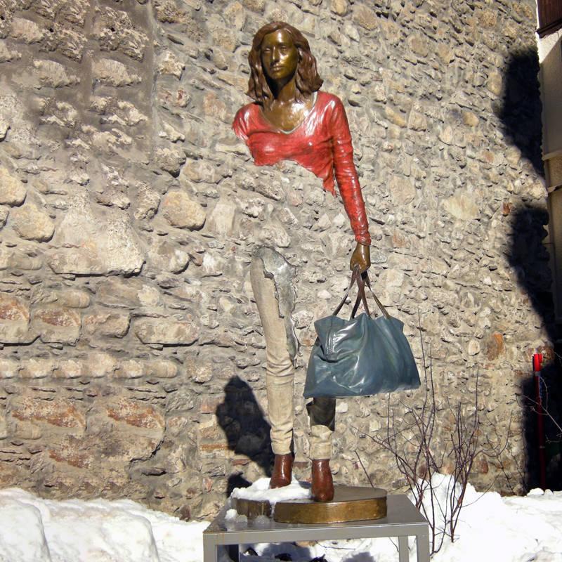 Outdoor sculpture for sale a bronze replica of France's Bruno Catalano