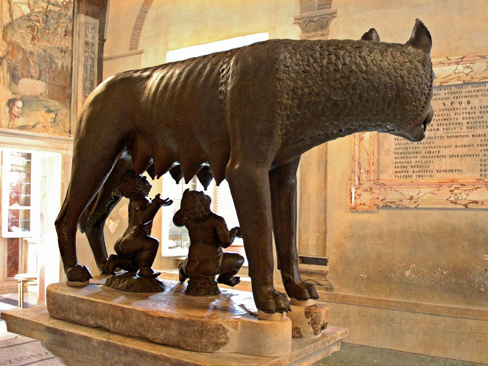 Do you know the story of the she-wolf bronze statue?cid=3