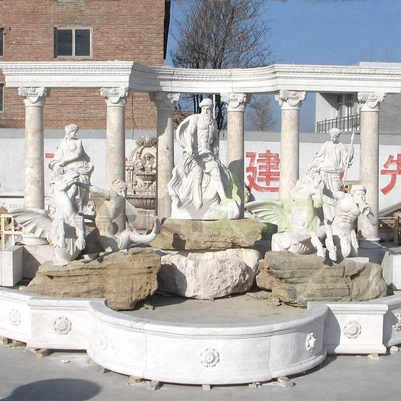 Large Outdoor Garden Marble Fontana Di Trevi Water Fountain