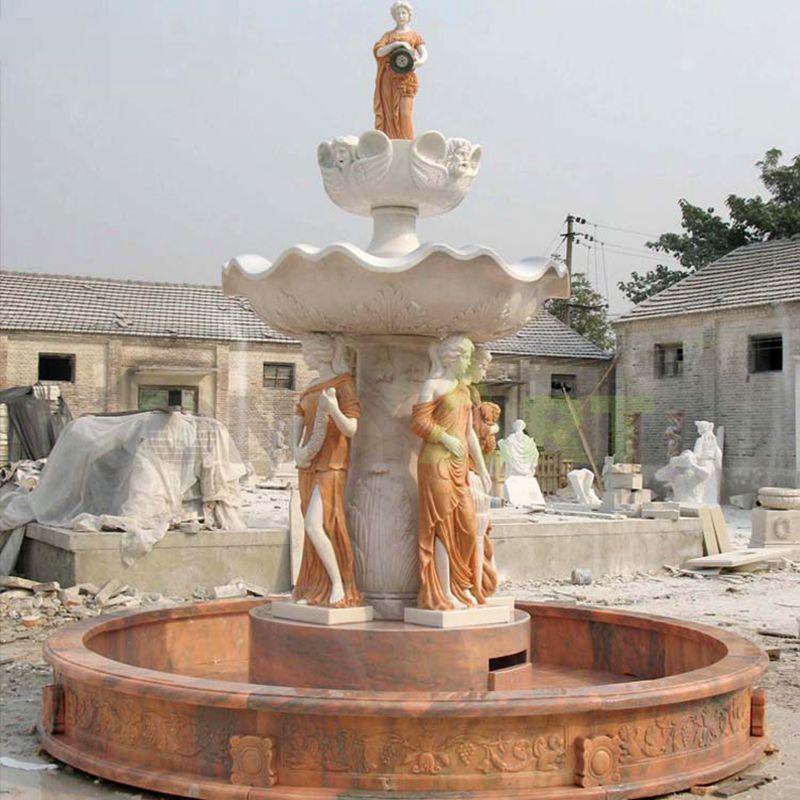 Modern Garden Outdoor Marble Stone Water Fountain