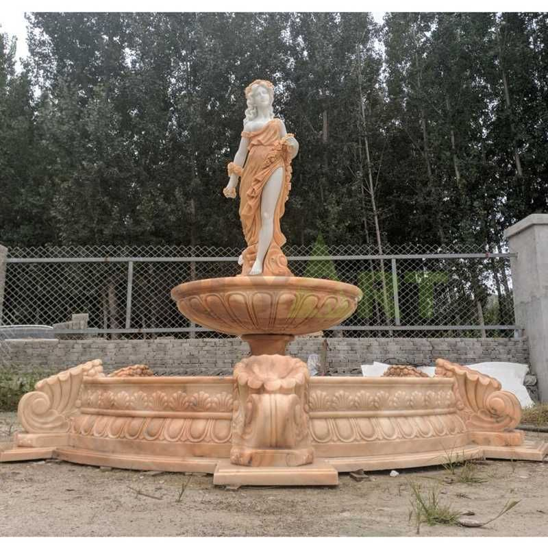 Two Tier Hand Carved Marble Stone Fountain
