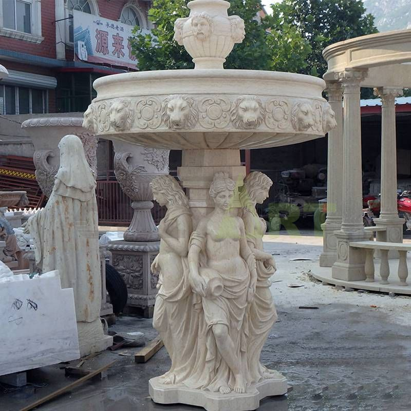 Modern Outdoor Natural Stone Large Garden Marble Stone Water Fountain
