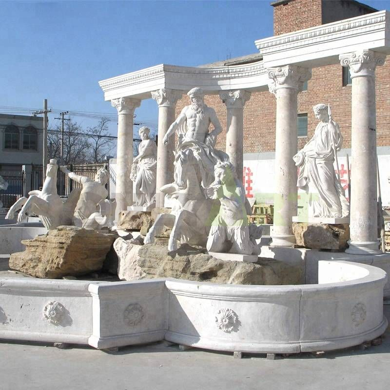 Chinese Outdoor Natural Stone Large Marble Water Fountain