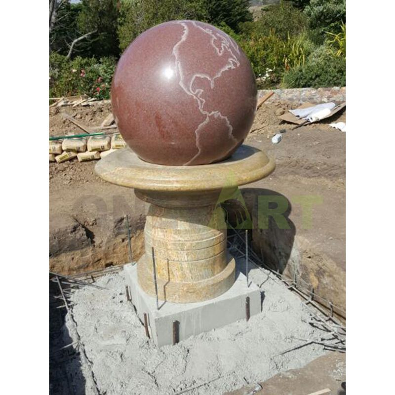 Wholesale Supplier Of Stone Sphere Rotating Ball Fountains for Outdoor Garden