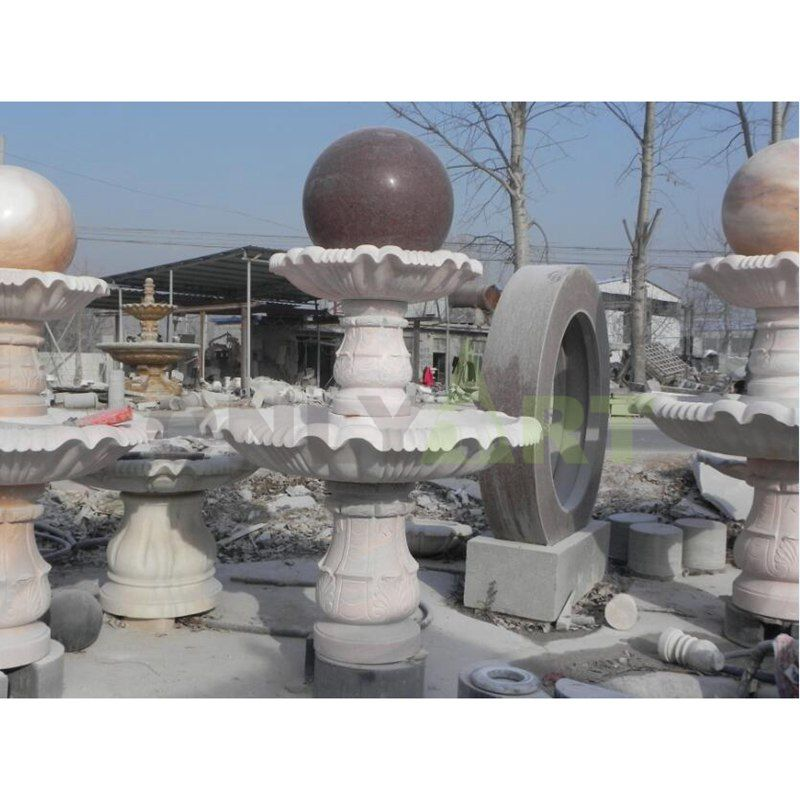 Brand New Large Stone Sphere Stone Water Fountain