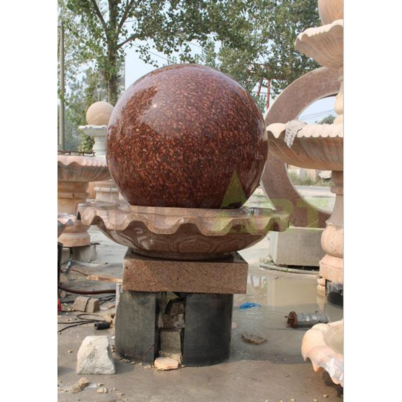 Natural Rolling Garden Stone Ball Water Fountains