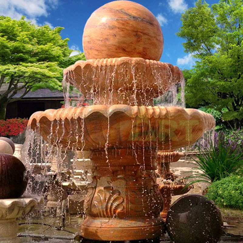 Marble Rotating Ball Outdoor Water Stone Fountain