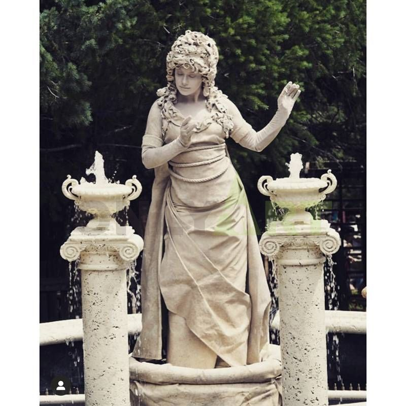 Large Outdoor Garden Marble Female Nude Fountain