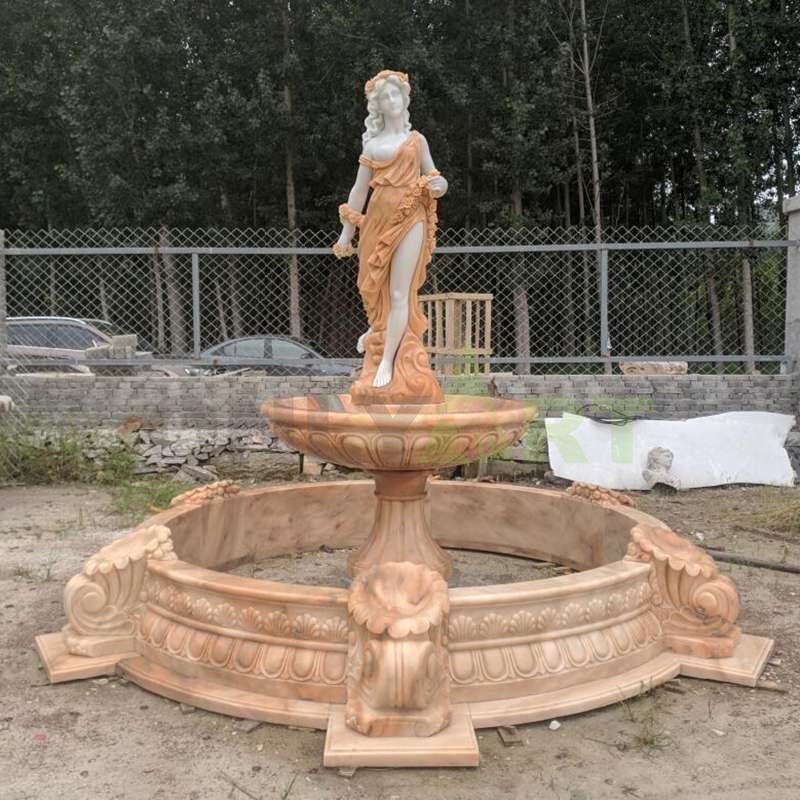 Large Garden Naked Girls Water Fountain Statues