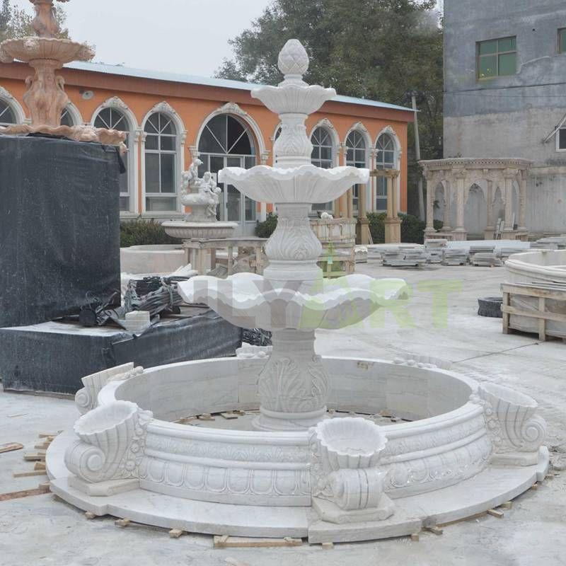 White Marble Outdoor Stone Garden Water Fountain