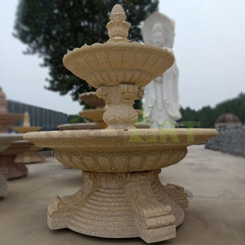 Customized Outdoor Marble Round Garden Marble Stone Water Fountain