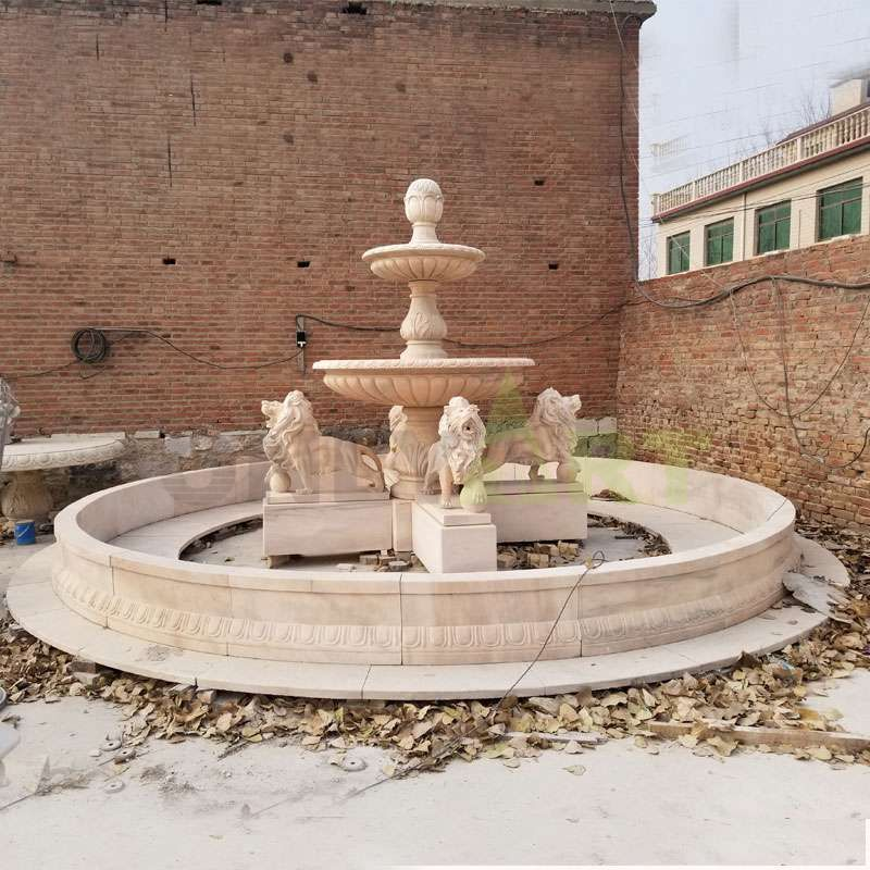 Exclusive And Customized For Marble Lion Water Fountain Garden Outdoor