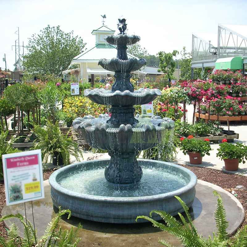 Large Simple Outdoor Ornamental Antique Garden Stone Water Fountain