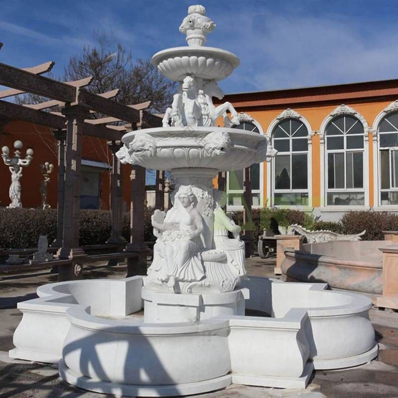 Modern Hand Carved Outdoor Garden Decoration Antique French Fountain