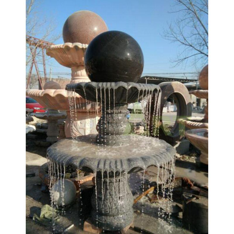 Marble Rolling Ball Water Fountain Outdoor Rolling Ball Water Fountain