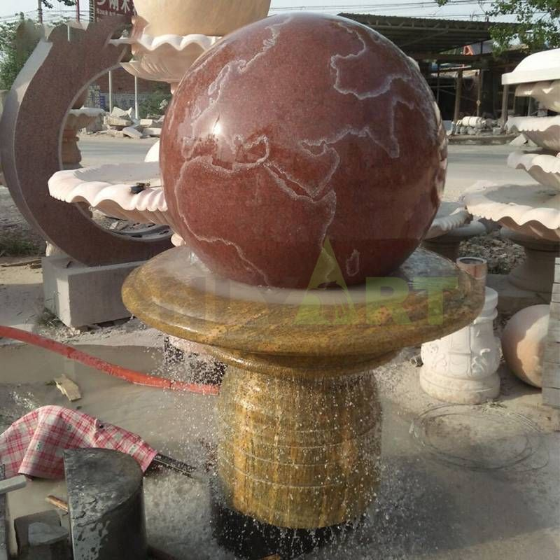 Lobby And Out Door Granite Stone Rotating Ball Fountain