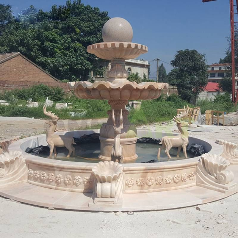 Water Fountains Marble Outdoor Ball Customized Stone Fountain