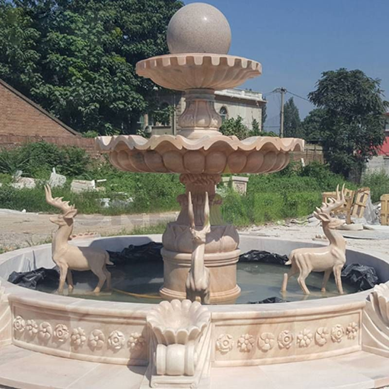 Customized Stone Ball Fountains Decorative Contained Fountain for Garden