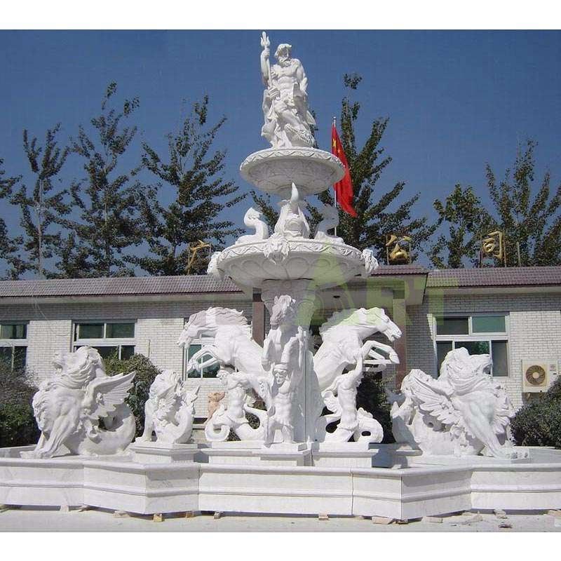 Custom Design Marble Stone Buddha Head Fountain
