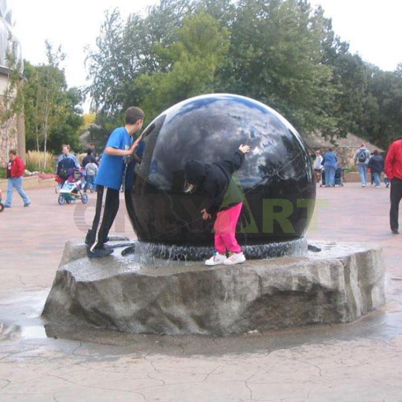 Garden Granite Stone Spinning Water Ball Fountain