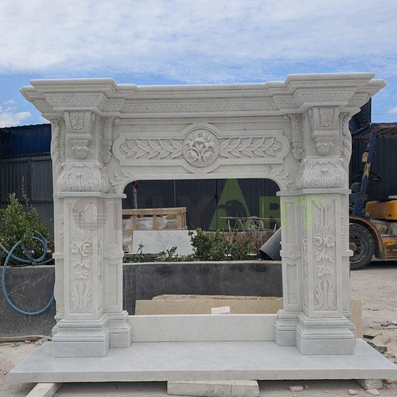 Indoor Decorative Freestanding Natural Stone Fireplace