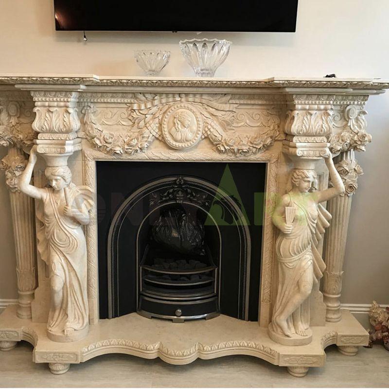 Stone Fireplace Design Fireplace Modern Design Marble Lady Fireplace