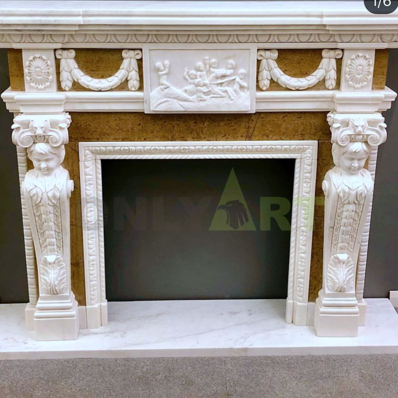 Fireplace With Modern Design Decorative Flame Fireplace Mantel Surround