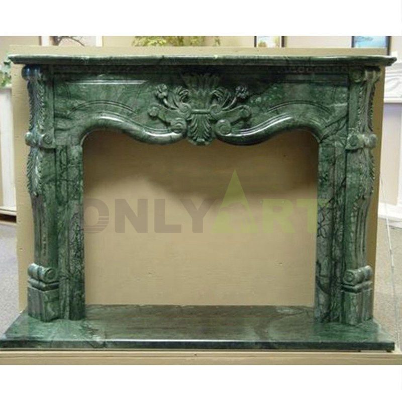 Marble Carving Natural Marble Green Marble Fireplace