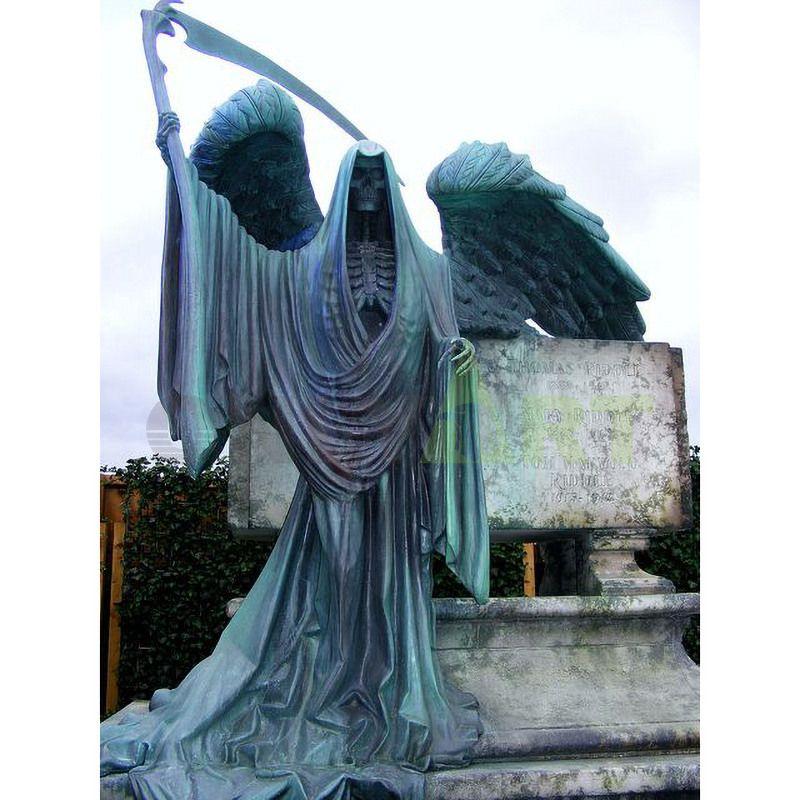 Devil angel bronze sculpture