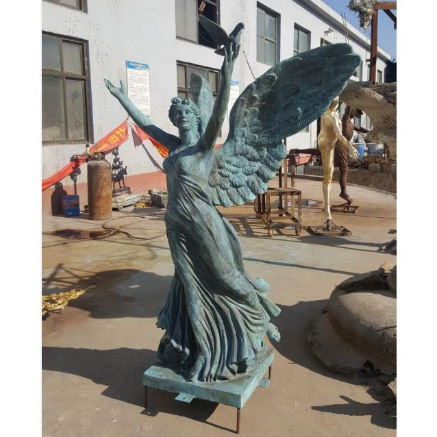 Large Metal Garden Statue Bronze Angel Sculpture