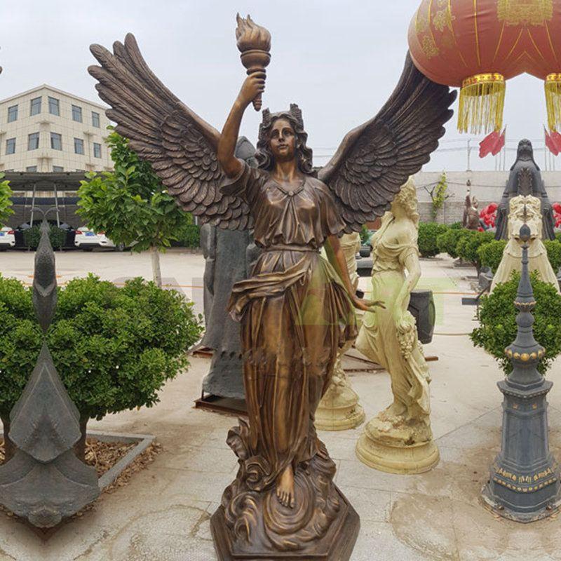 Marathon Victory Fire Statue of a girl angel