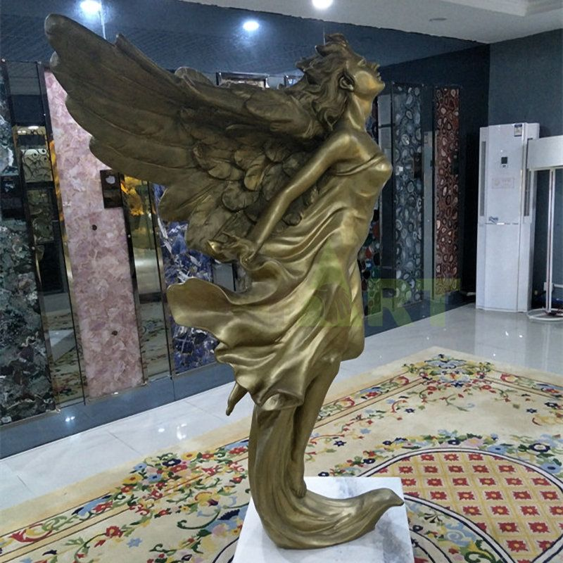 To freedom and love all good angel bronze statue