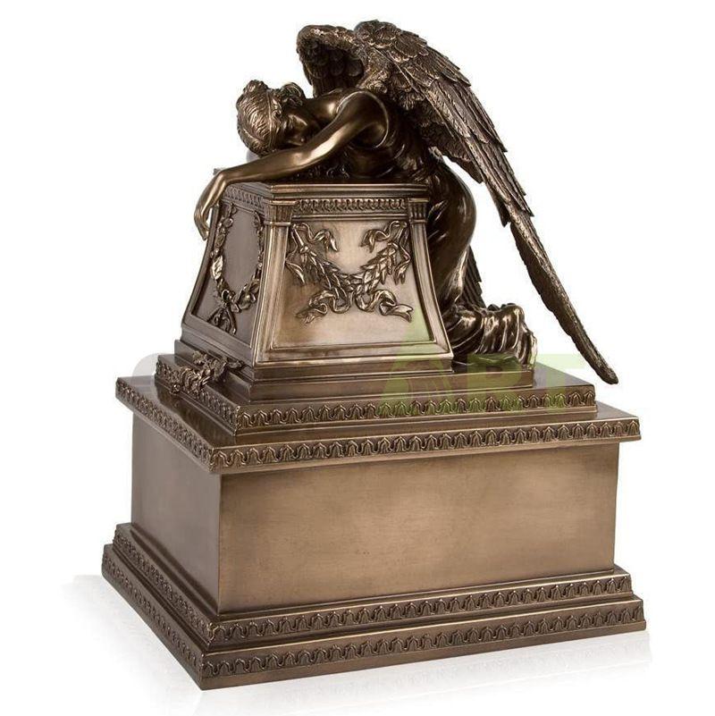 Weeping Angel Old World Bronze Adult Urn