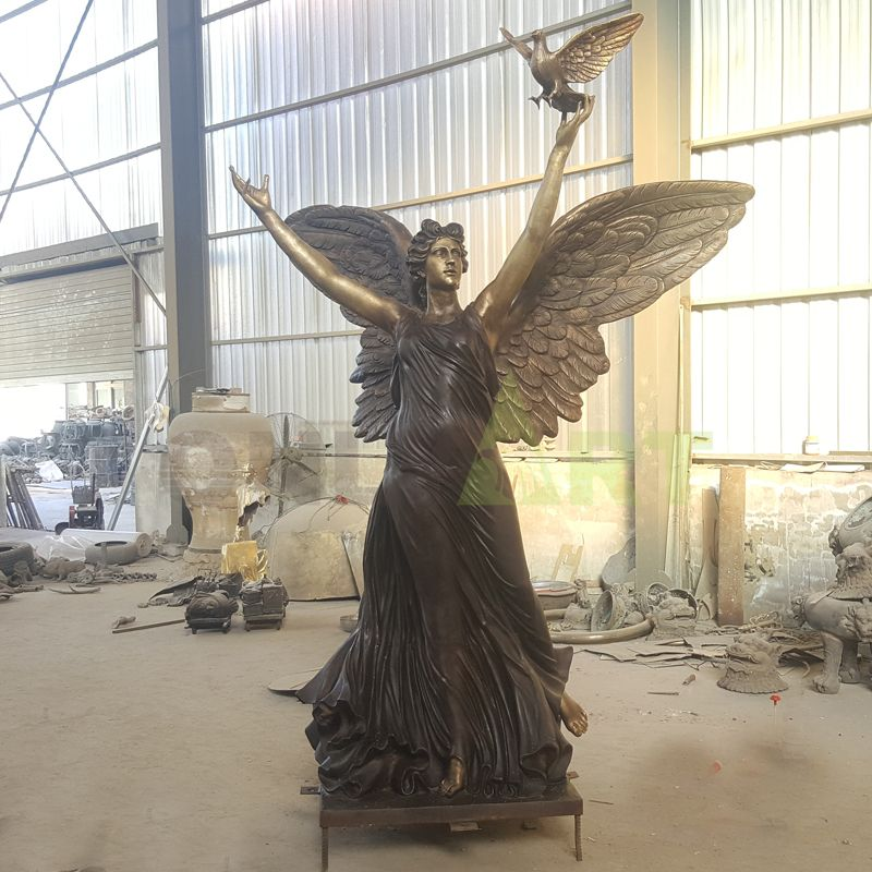 Angel sculpture of freedom and peace