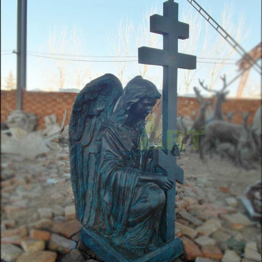 Secret sculpture of a sad angel