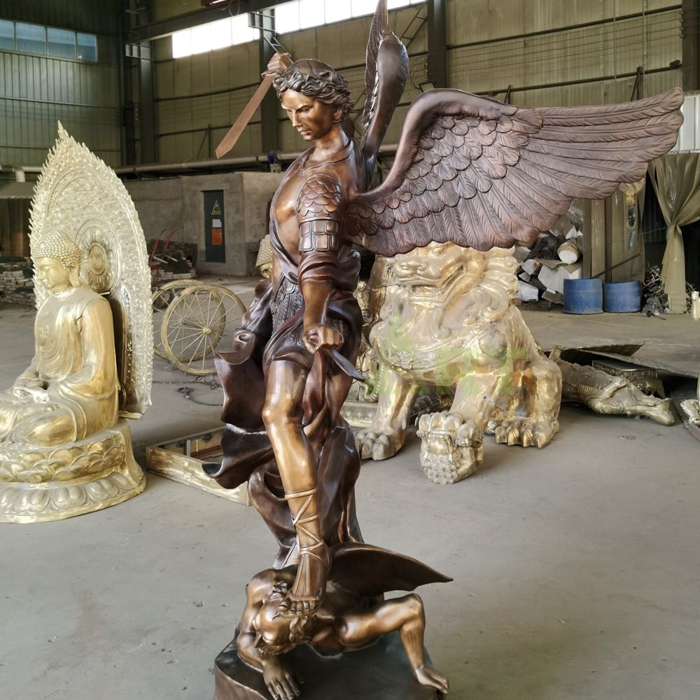 The bronze statue of the angel of Justice