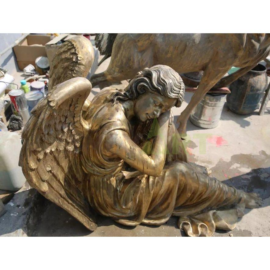 A sleeping angel sculpture