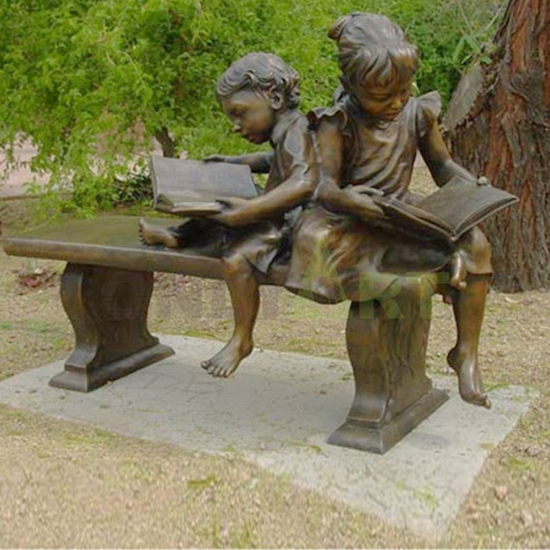 Let's see some books, children's sculptures