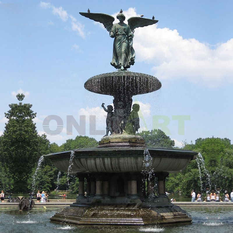 At the foot of compassion shoulders moisten all living things angel bronze sculpture