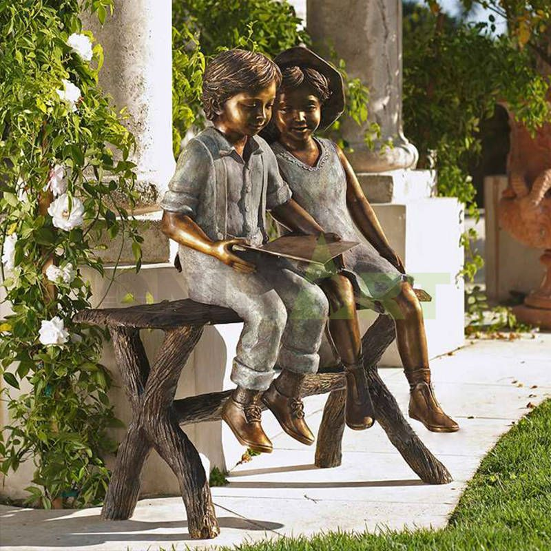 When I was young, I needed a little friend to read with, a child sculpture