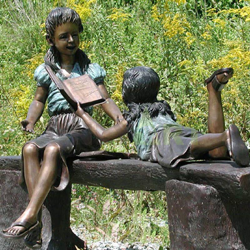 I read stories to my friends, children's sculptures