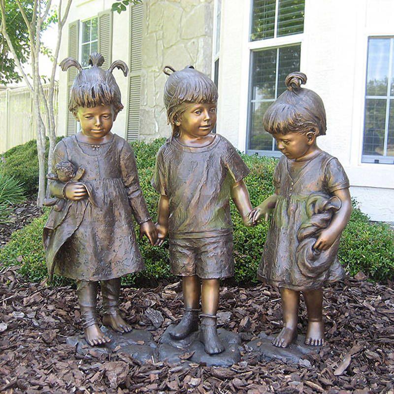 Girls' secrets to be whispered, children's sculpture