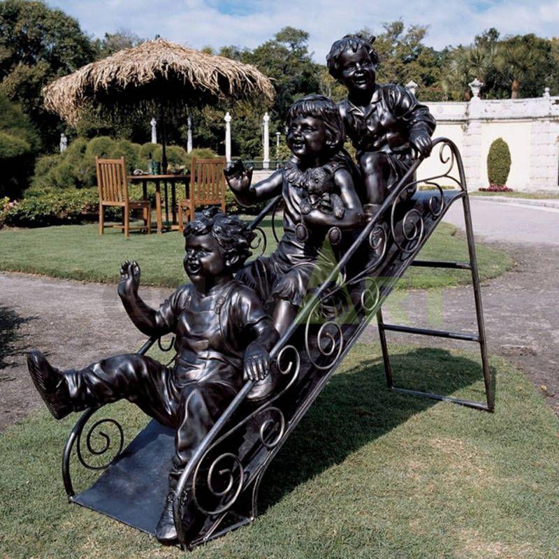 Remember the fun of children sliding on the slide?,Children's sculpture