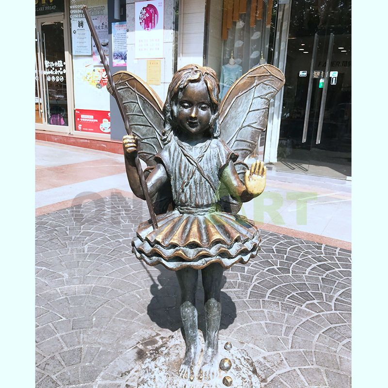 Little butterfly girl with magic