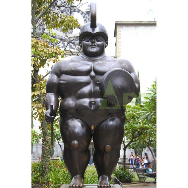 Lovely fat pony, bronze sculpture
