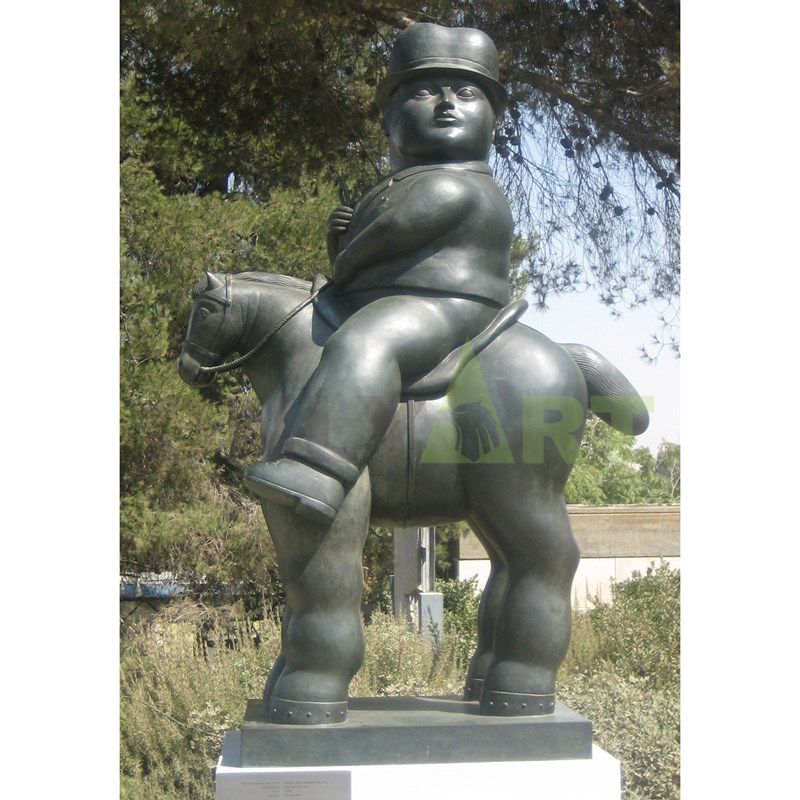 Fernando Botero's Man on a Horse can be used in the Plaza Park