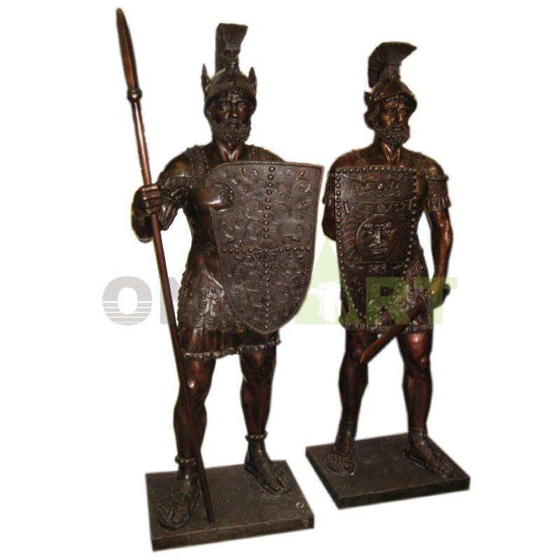 Statue of two Roman warriors in honor of Sparta