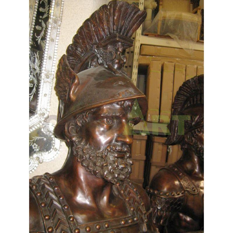 Sculpture of a Roman warrior's helmet