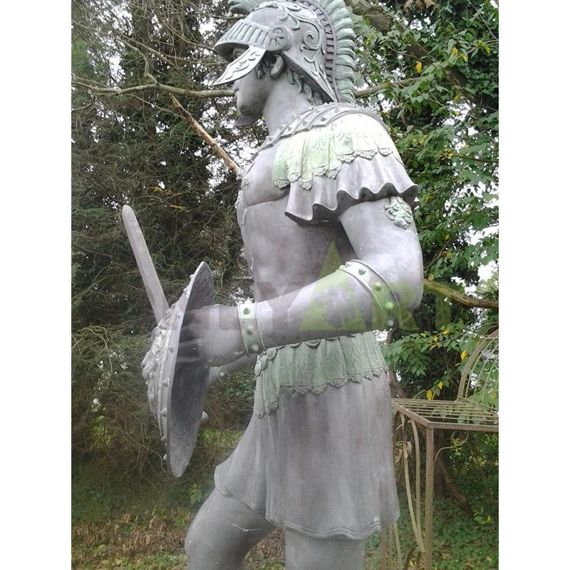 Handsome young Roman infantry sculpture back
