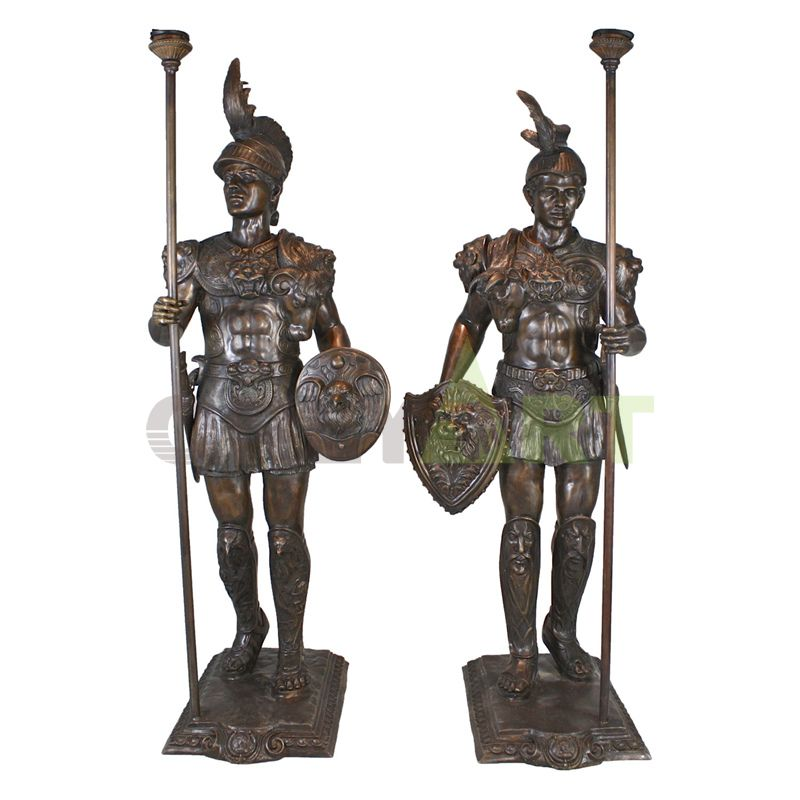 Sculpture of two handsome young Roman infantry figures